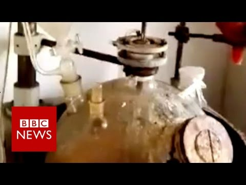 What goes on inside a Chinese 'legal high' factory? BBC News 2