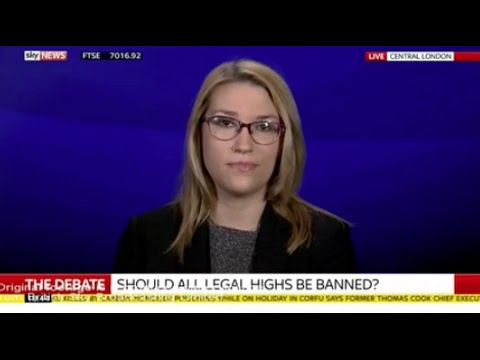 Charlotte Bowyer argues against the UK's crackdown on legal highs on Sky News 2