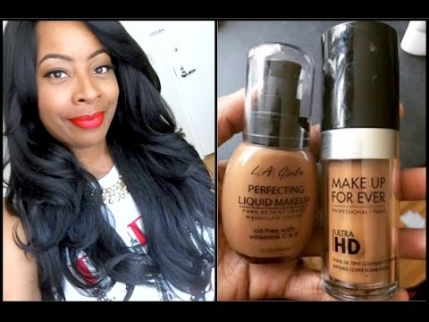 L.A GIRL Perfecting Liquid Makeup | Color: MAHOGANY | FAB Dupe to Makeup Forever Ultra HD Foundation 2