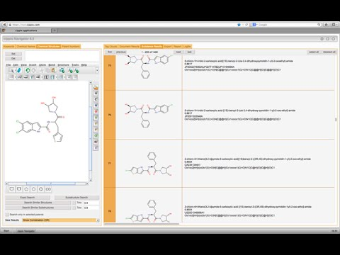 Cippix Tutorial: How to use the Chemical Structure Search tab 2
