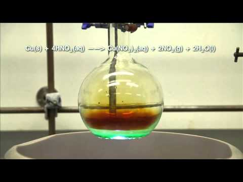 Reaction of copper with nitric acid 1
