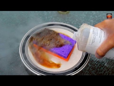 Sulfuric Acid and Sponge Reaction - Chemistry experiment 1