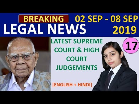 Latest Judgments 2019 I Legal News I Supreme Court I High Court I Recent Case Law 2019 2