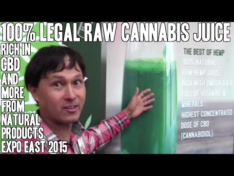 100% Legal Raw Cannabis CBD Rich Green Juice & More from Expo East 2015 2
