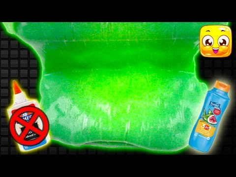 How To Make Slime without Glue, Borax, Baking Soda, Cornstarch, Liquid Starch! GIANT Fluffy Slime! 2