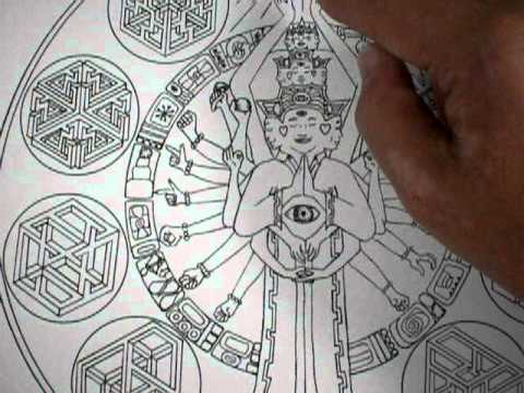 The DMT Mandala - Video Description of the Imagery encoded within the design 2
