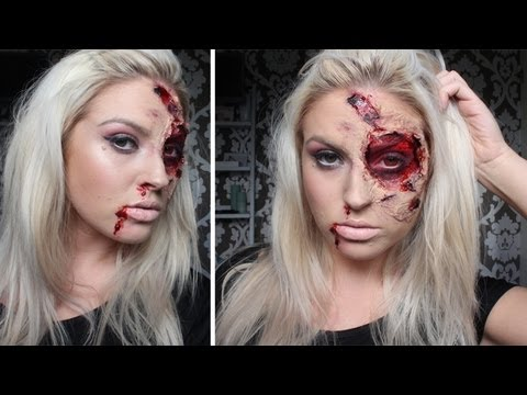 ♡ Burnt & Bloody SFX Makeup ♡ Halloween Tutorial - Liquid Latex 2