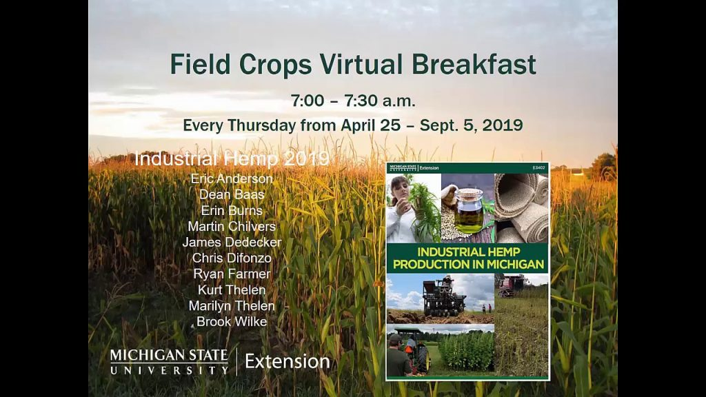 Virtual Breakfast 8-15-19: Industrial Hemp 2