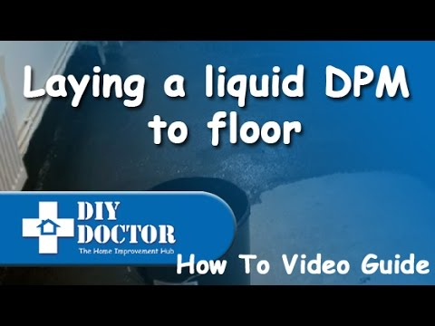 Waterproof and damp proof a concrete floor by laying a liquid Synthaproof Damp Proof Membrane 2