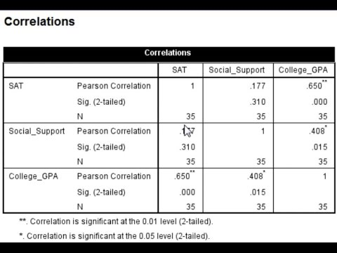 How to Calculate a Correlation Matrix in SPSS 2