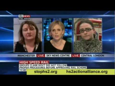 """HS2, the """"ill thought through scheme"""" is discussed on Sky News 2"""