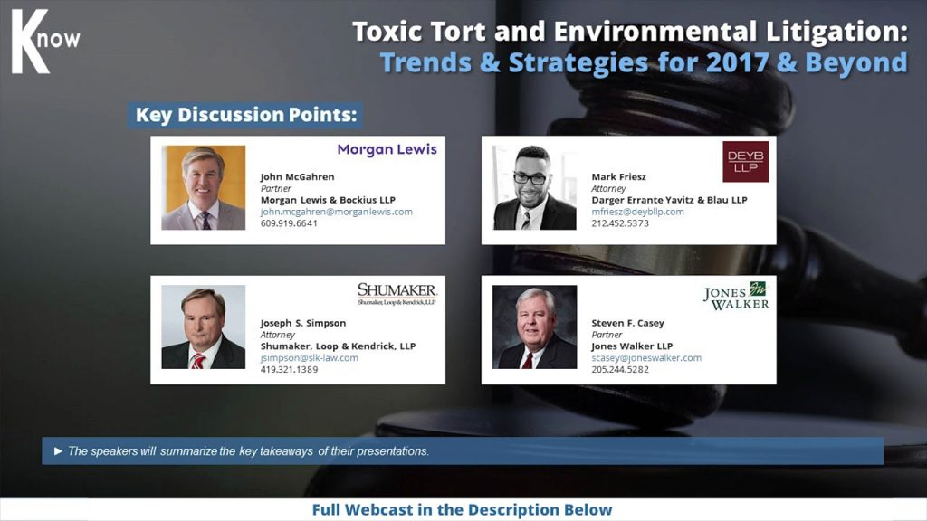 Toxic Tort and Environmental Litigation CLE: Strategies 2