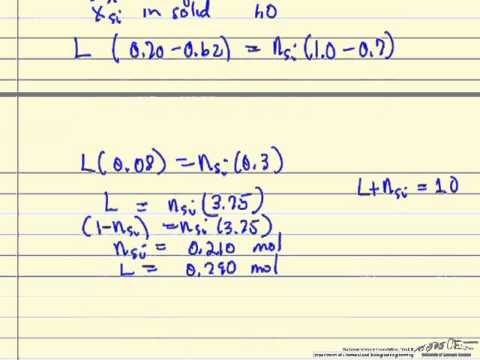 Lever Rule for Solid-Liquid Phase Diagram 2