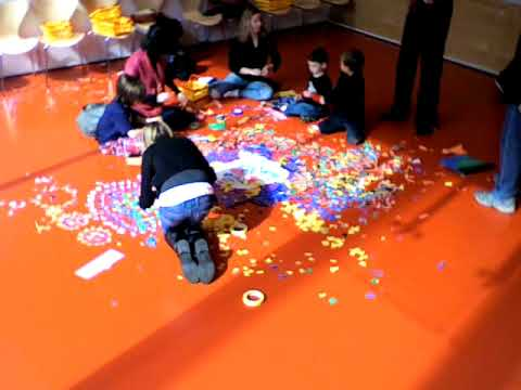 Time-Lapse Rangoli Created at the Art Institute of Chicago 2