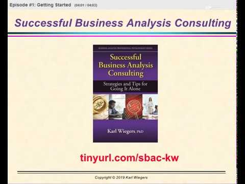 Successful Business Analysis Consulting #1: Getting Started 2