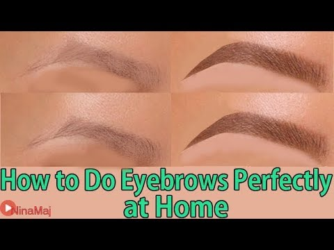 Eyebrows Makeup : How to Do Eyebrows Perfectly at Home 2