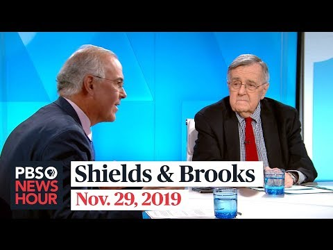 Shields and Brooks on impeachment public opinion, shifting 2020 Democratic race 2