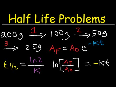 Half Life Chemistry Problems - Nuclear Radioactive Decay Calculations Practice Examples 2