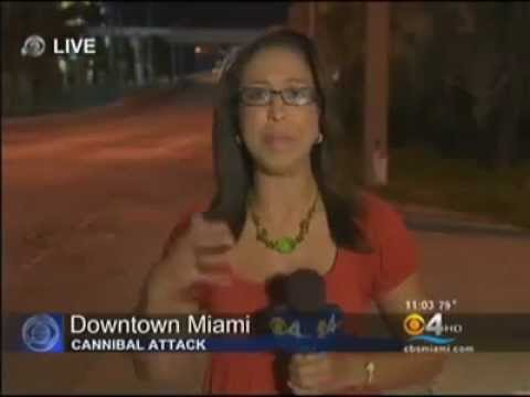 ZOMBIE ATTACK in Miami man eats face like cannibal even after multiple shots fired. Apocalypse 2012 2