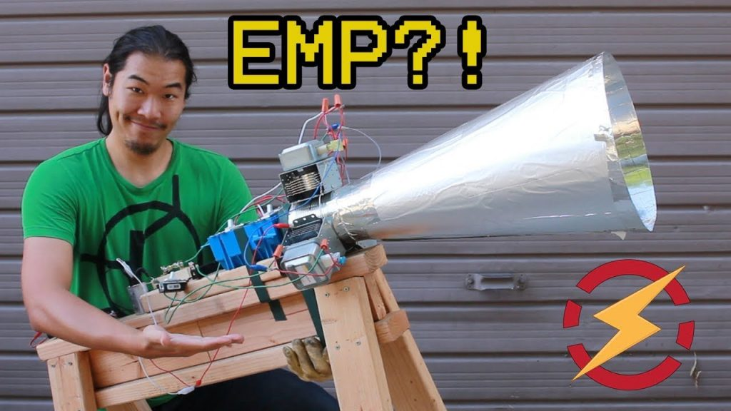 A Microwave Gun Made From Taser and Soup Can??? (Testing Kreosan's Magnetron Cannon) 2