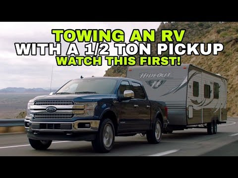 Towing a Travel Trailer RV with a 1/2 ton Pickup! Watch this! 2