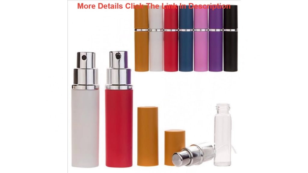 Top 5ml Portable Mini Aluminum Pump Sprayer Bottles Refillable Perfume Atomizer Empty Cosmetic Cont 2